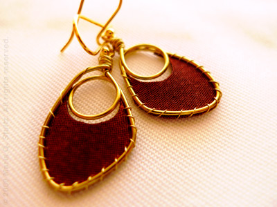 Nina textile earrings by Maria Stultz