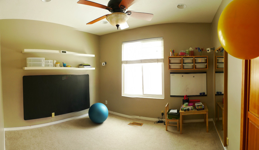 last shot of our Son-Rise playroom