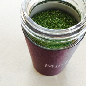 Homemade mint powder