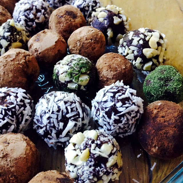 Truffles!… Everybody loved the mint ones (my powder's debut).