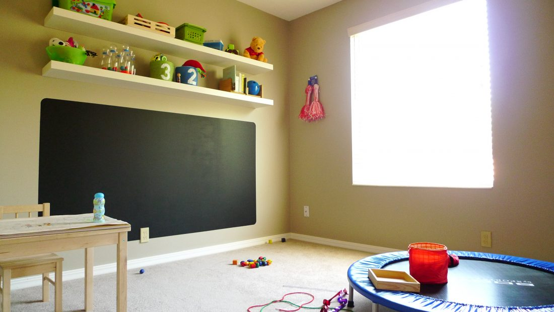 Our Son-Rise playroom, first day it opened