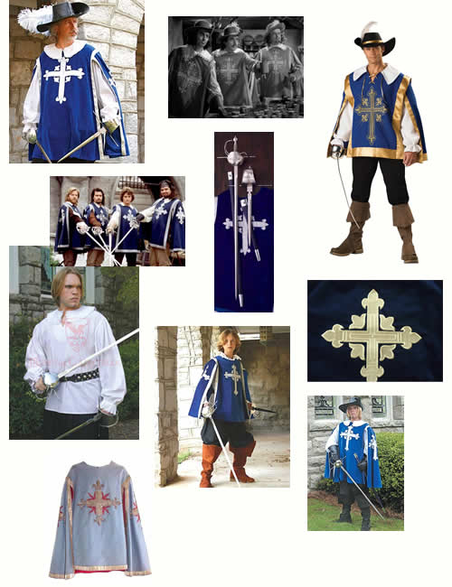 musketeer images I used as inspiration